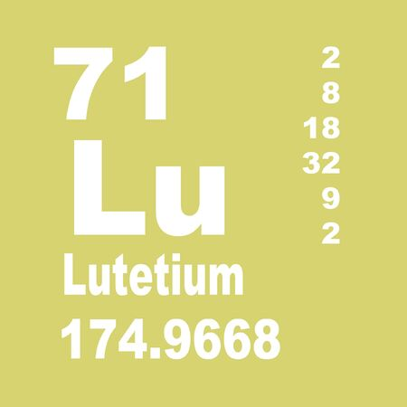 Photo for Lutetium is a chemical element with symbol Lu and atomic number 71. - Royalty Free Image