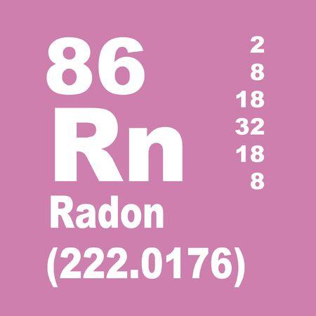 Photo pour Radon is a chemical element with symbol Rn and atomic number 86. - image libre de droit