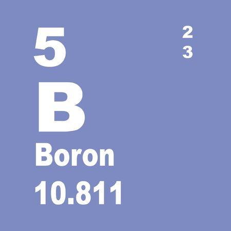 Photo pour Boron is a chemical element with symbol B and atomic number 5. - image libre de droit
