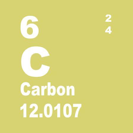 Photo pour Carbon is a chemical element with symbol C and atomic number 6. - image libre de droit