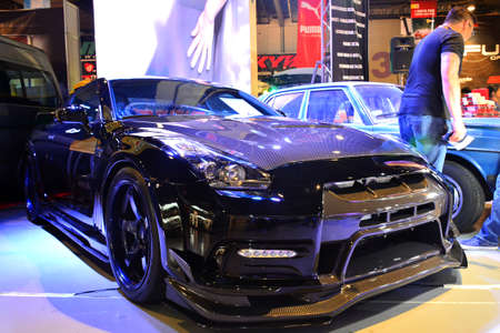 Photo pour PASAY, PH - MAY 19 - Nissan 350z at Trans Sport Show on May 19, 2018 in Pasay, Philippines. - image libre de droit
