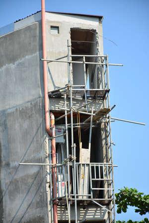 LA UNION, PH - APRIL 18 - Under construction building facade on April 18, 2019 in La Union, Philippines.