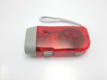 Photo for Red plastic case emergency flashlight - Royalty Free Image