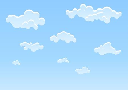 Illustration pour Illustration of Blue sky background - image libre de droit