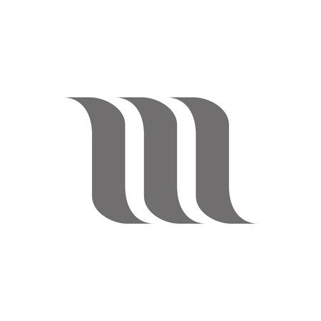 Letter M Logo Concept Icon. Vector illustration