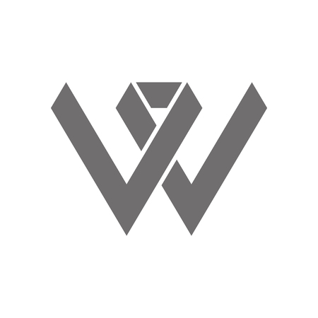 Letter W icon Concept Icon. Vector illustration