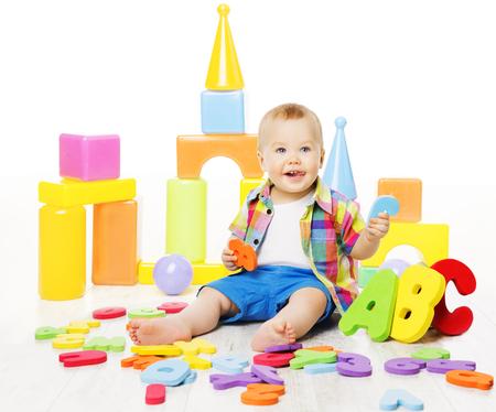 Photo pour Baby Educational Toys, Kid Play ABC Colorful Letters, Children Education - image libre de droit