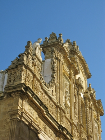 Gallipoli cathedral saint Agatha in Apulia in the south of Italy