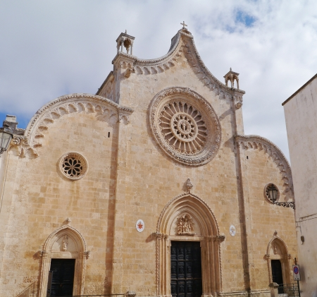 The cathedral of Ostuni in Apulia in the south of Italy