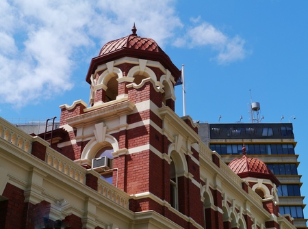 The historic City Baths is a significant building in the center of Melbourne in Victoria in Australia