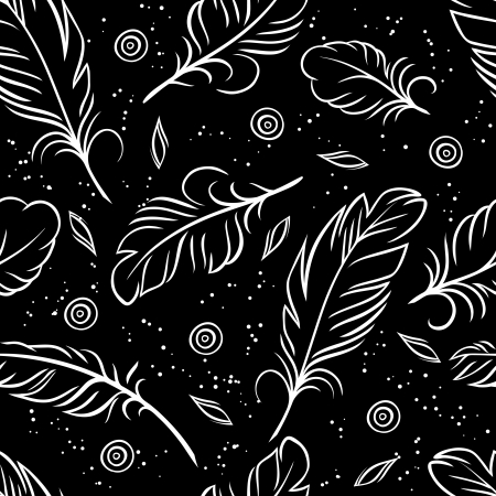 Photo pour illustration  Seamless pattern of abstract feathers  - image libre de droit