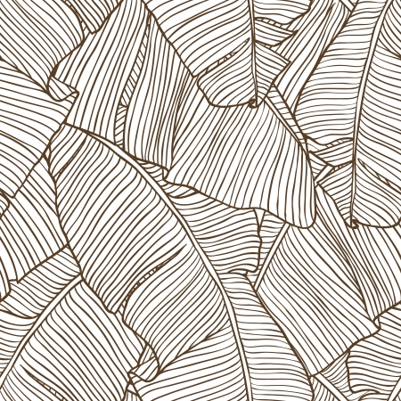 Banana Leaf Lines Pattern