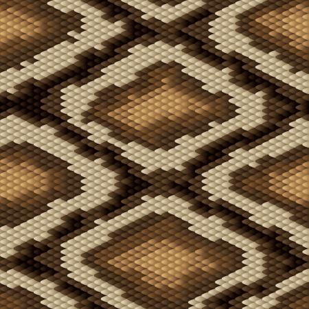 Seamless python snake skin pattern