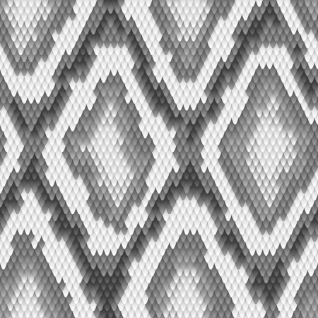 Seamless python snake skin pattern  Vector illustration