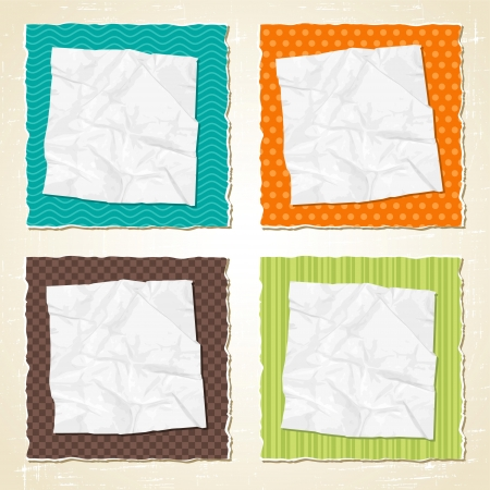 Torn scratch paper vintage background  Vector texture