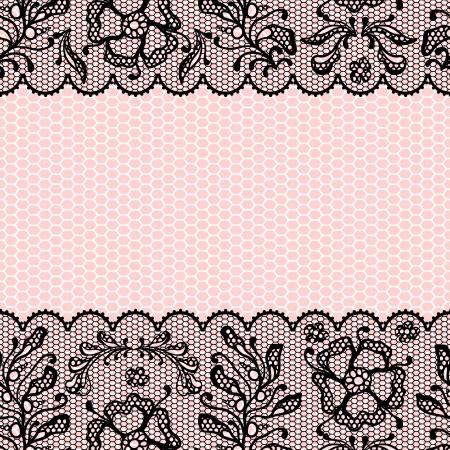 Vintage lace frame, ornamental flowers  texture