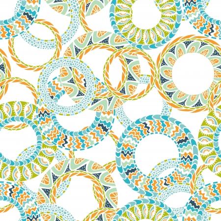 Ilustración de Colorful ethnicity round ornament,  seamless pattern  - Imagen libre de derechos