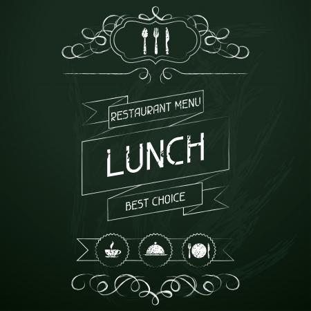 Lunch on the restaurant menu chalkboard