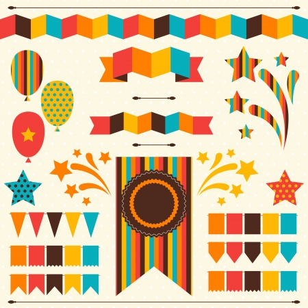Illustration for Collection of decorative elements for holiday. - Royalty Free Image