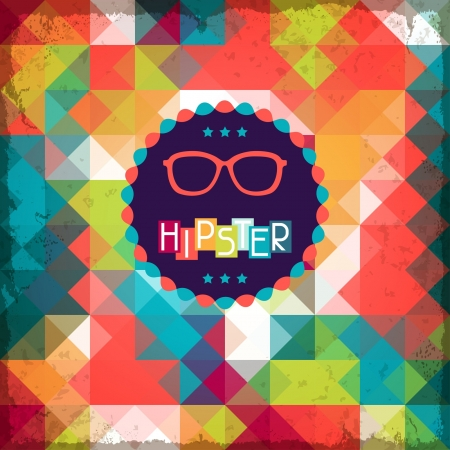 Illustration for Hipster background in retro style. - Royalty Free Image