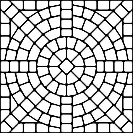 Ilustración de Ancient mosaic ceramic tile pattern. Decorative glass ornament. Abstract antique texture. - Imagen libre de derechos