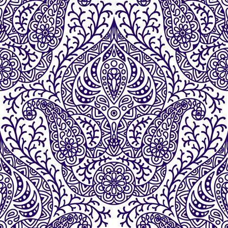 Illustration pour Indian ethnic seamless pattern. - image libre de droit