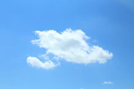 Single cumulus  cloud on a