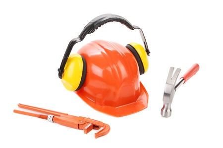 Working set of tools. Isolated on a white background.
