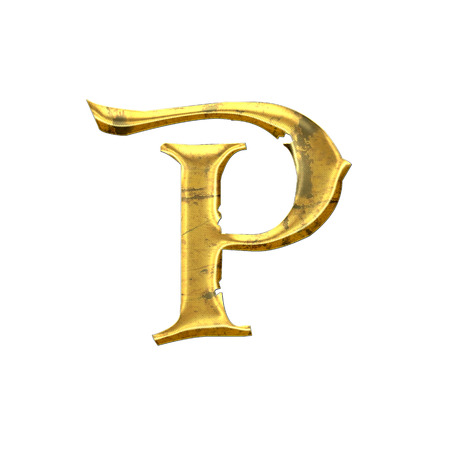 High quality old shining Letter P.