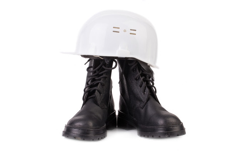 Various working equipment. Isolated on a white .