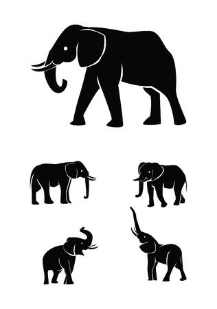 Ilustración de elephant set collection - Imagen libre de derechos