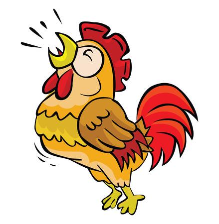 Illustration pour Rooster crow - image libre de droit