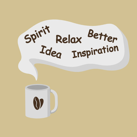 Illustration pour Coffee imagination taste - image libre de droit