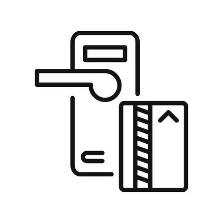 Illustration pour key lock card vector illustration design - image libre de droit