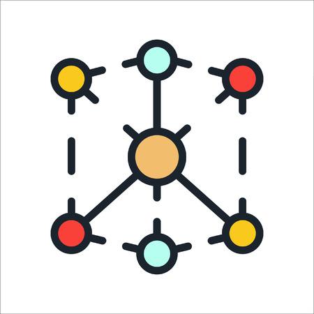 distribution channel icon color