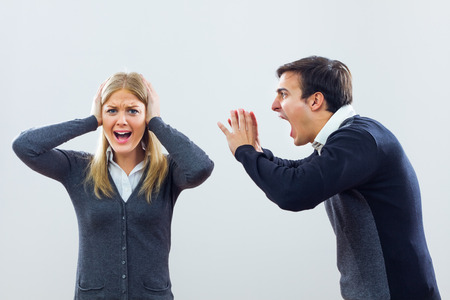 Businessman is shouting at his colleague