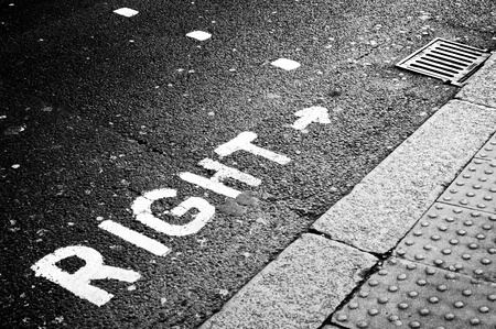 Photo for Right signal on the road - Royalty Free Image