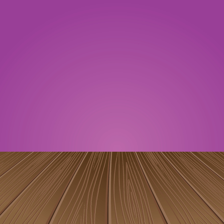Illustration pour Empty interior for projects. Wooden structure. Vector illustration - image libre de droit