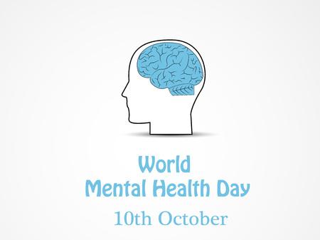 Ilustración de Illustration of World Mental Health Day - Imagen libre de derechos