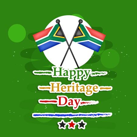 Illustration pour Illustration of South Africa Heritage Day Background - image libre de droit