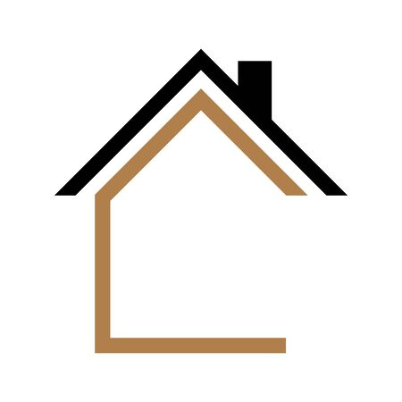 Illustration for House icon Vector simple flat logo symbol - Royalty Free Image