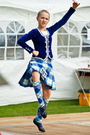 Bathgate Highland Games 2009: Scottish girl dancer
