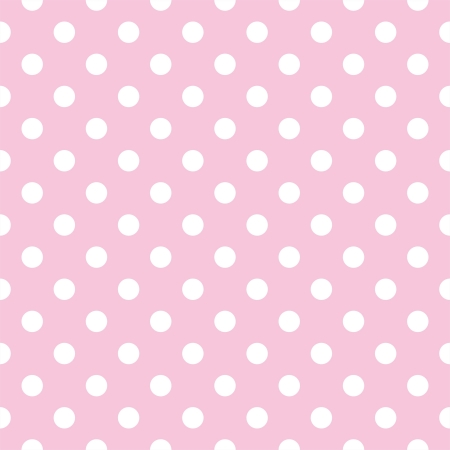 Illustration pour seamless pattern with small white polka dots on a pastel pink background. For cards, albums, backgrounds, arts, crafts, fabrics, decorating or scrapbooks. - image libre de droit