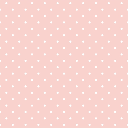 Ilustración de seamless pattern with small white polka dots on a pastel pink background. For cards, albums, backgrounds, arts, crafts, fabrics, decorating or scrapbooks. - Imagen libre de derechos