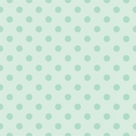 Seamless pattern with dark bottle green polka dots on a retro vintage mint green