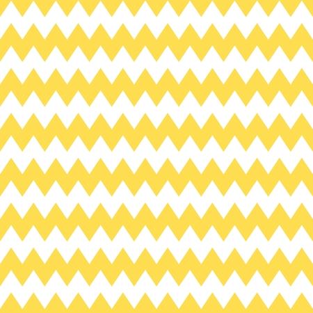 Ilustración de Tile chevron vector pattern with yellow and white zig zag background - Imagen libre de derechos