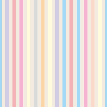 Illustration pour Seamless pastel stripes vector background or tile pattern illustration. Desktop wallpaper with colorful yellow, red, pink, green, blue, orange and violet stripes for kids website background - image libre de droit