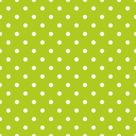 Ilustración de Tile vector pattern with white polka dots on green background - Imagen libre de derechos