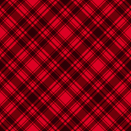 Illustration pour Red with dark diagonal stripes seamless pattern background. Vector checkered abstract. Trend Merry Christmas and New Year tablecloth cage texture - image libre de droit