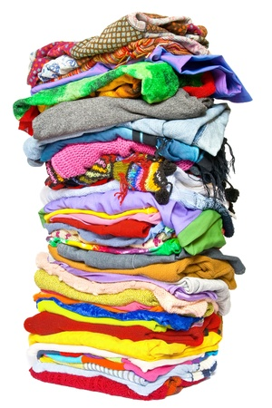 Photo pour Stack of clothes - image libre de droit